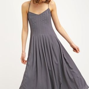 Banana Republic Pintuck Maxi Dress - Gray